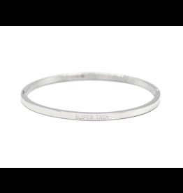 Bracelet message argenté