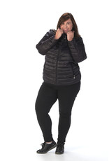 Doudoune noire  avec capuche intégrée