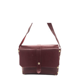 Sac simili à clou bordeaux