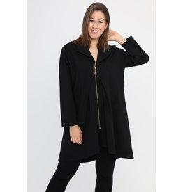 Veste noire longue habillée