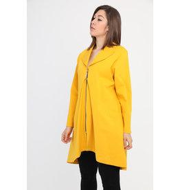 Veste jaune longue habillée