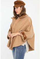 Veste Poncho camel