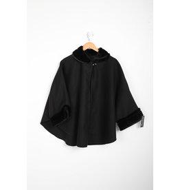 Veste Poncho noir