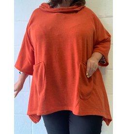 Pull orange oversize confort