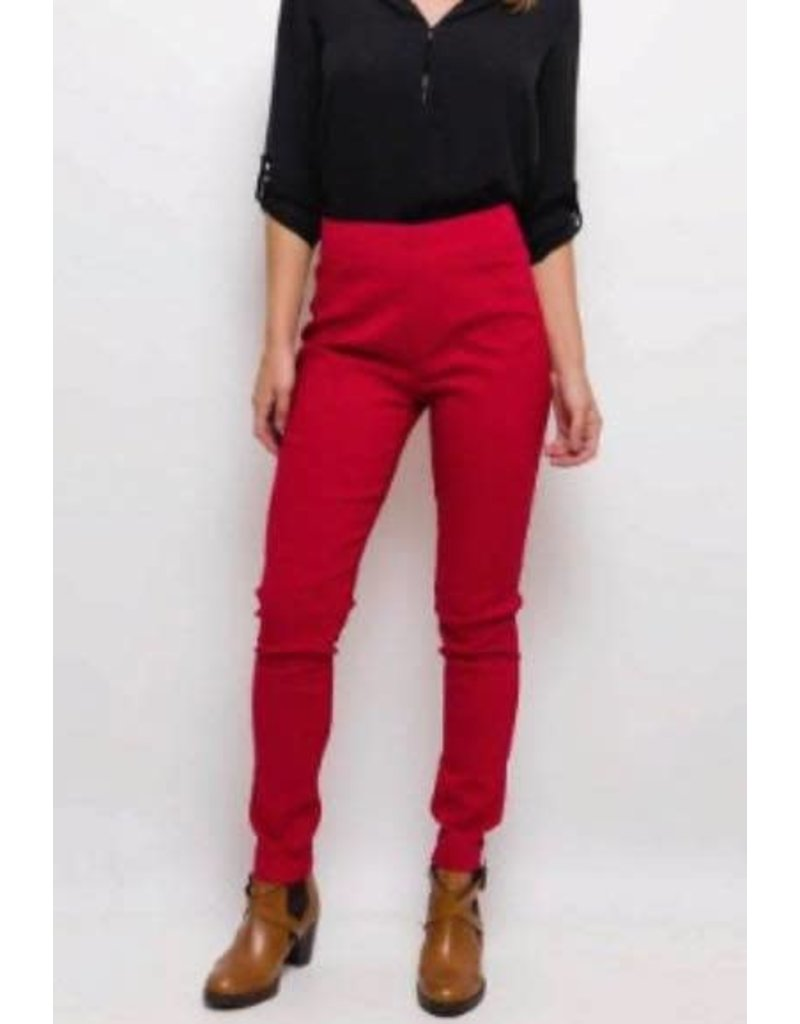 Pantalon slim CHRISTY rouge
