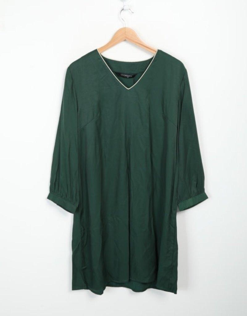 EMB Robe courte verte bord doré
