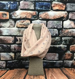 EMB Snood ancre rose