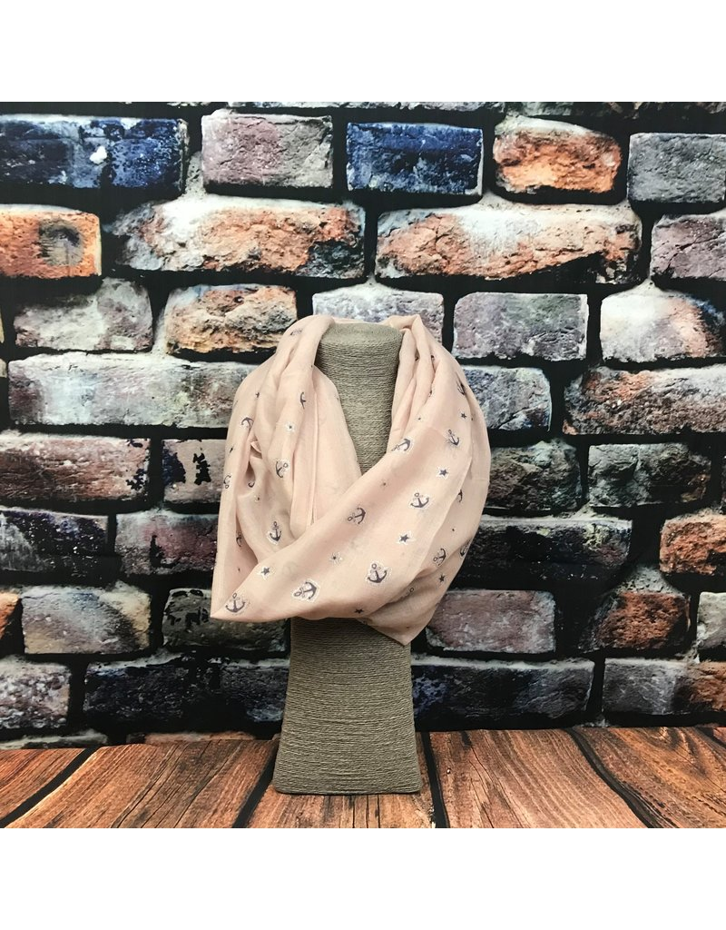 Snood ancre rose