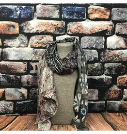 Foulard roues anthracite