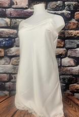 EMB Sous robe dentelle TU blanche