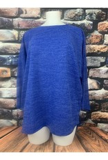 Pull tunique ample bleu roi