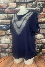 EMB Tee shirt strass en V