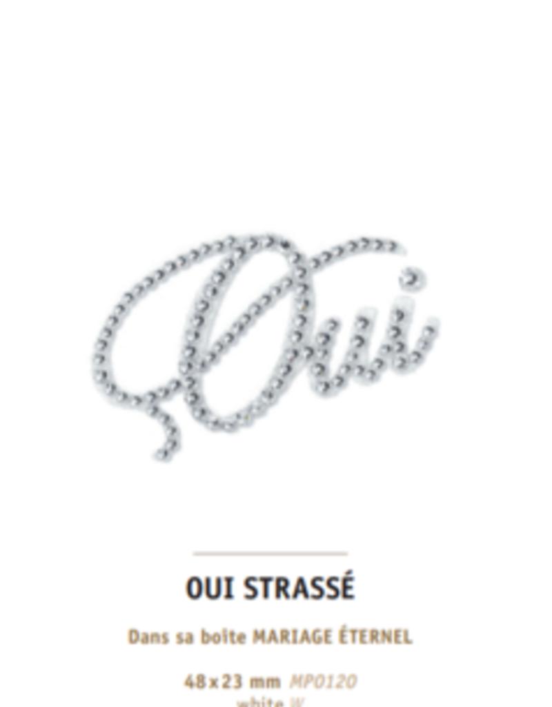 M Paris Oui strassé collection mariage