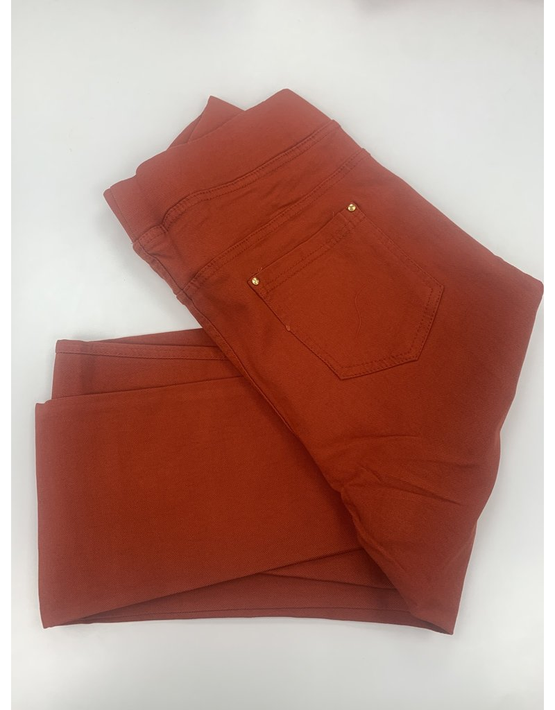 Pantalon slim CHRISTY rouille
