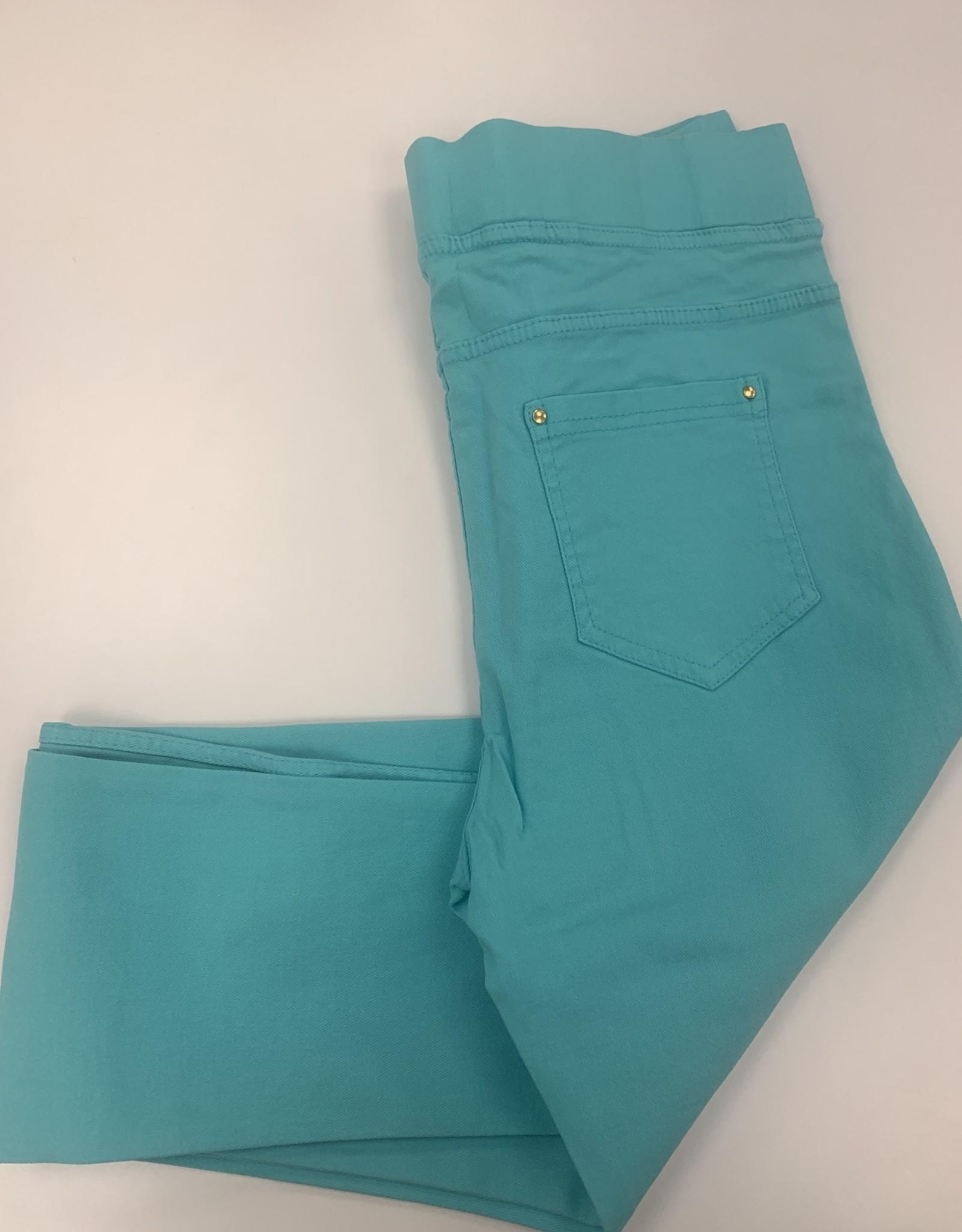 EMB Pantalon slim  CHRISTY turquoise