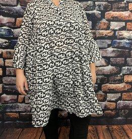 EMB Robe blanche et noire inspiration haute couture