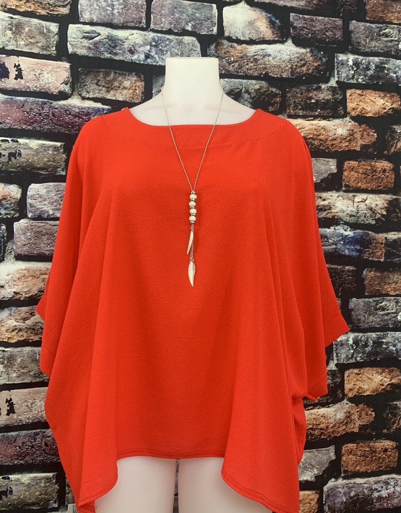 EMB Blouse ample rouge taille unique grande taille