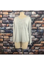 Tee shirt manche longue Rock & Love gris