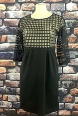 EMB Robe noir habillée grande taille unique fond clair