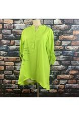 Chemise longue verte fluo avec ecriture taille unique grande taille
