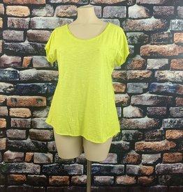 EMB Tee shirt MC grande taille jaune