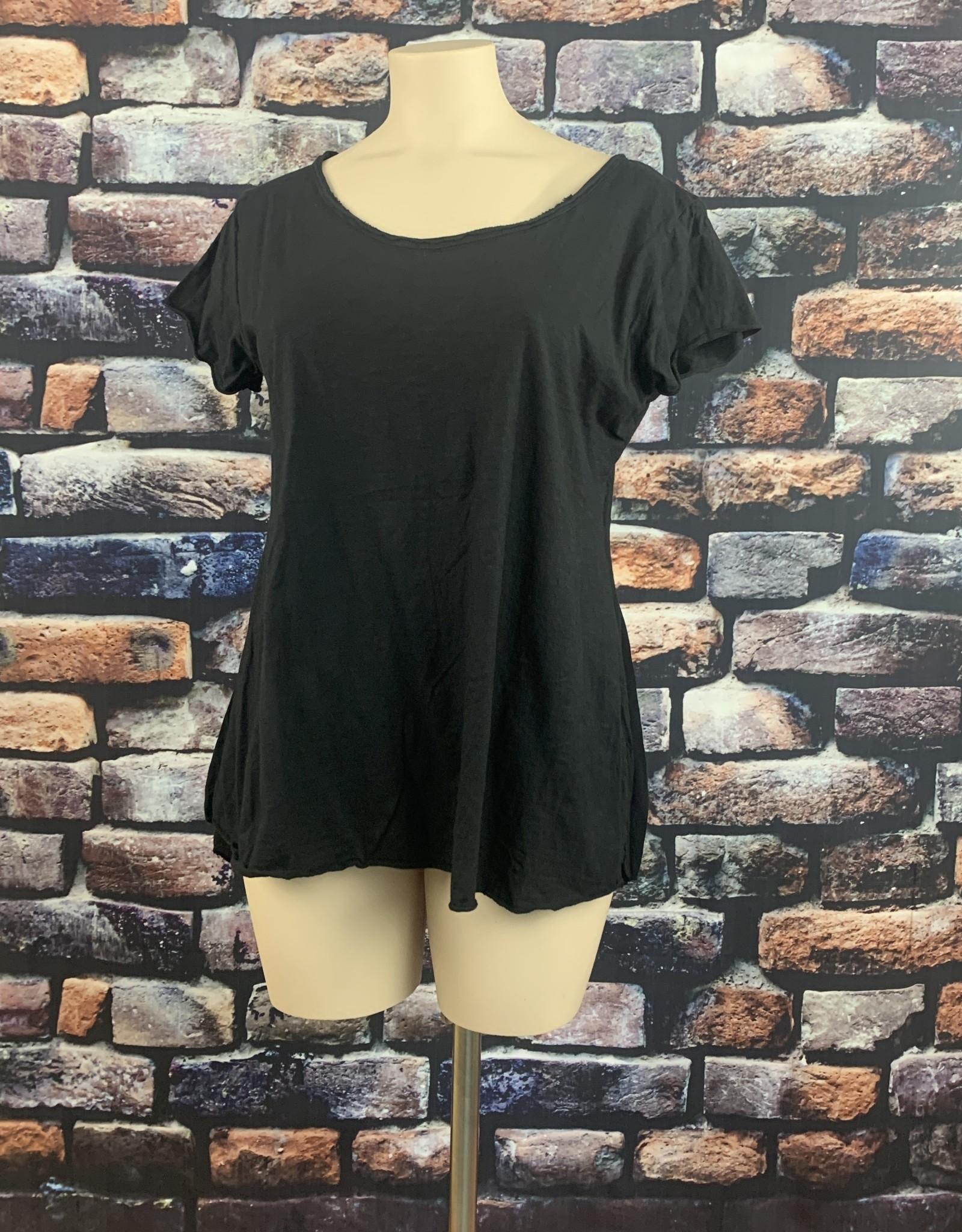 EMB Tee shirt MC grande taille noir