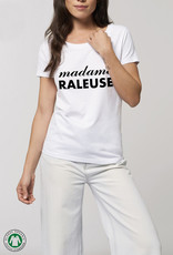 EMB Tee shirt bio blanc femme à message : Madame Raleuse