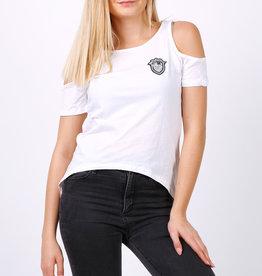 EMB Tee shirt manche coupée