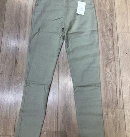 Pantalon slim  CHRISTY vert de gris