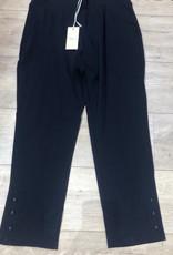 EMB Pantalon 7/8eme  bleu marine bouton