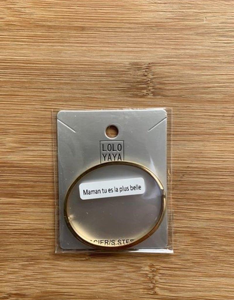 """Bracelet acier """" fête des mamans"""""""