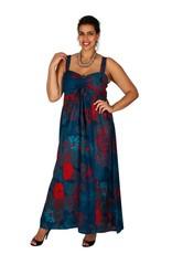 Allez Simplement Maxi robe evasée canard rouge