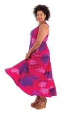 Allez Simplement Maxi robe soyeuse fushia