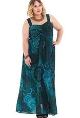Allez Simplement Maxi robe evasée vert canard