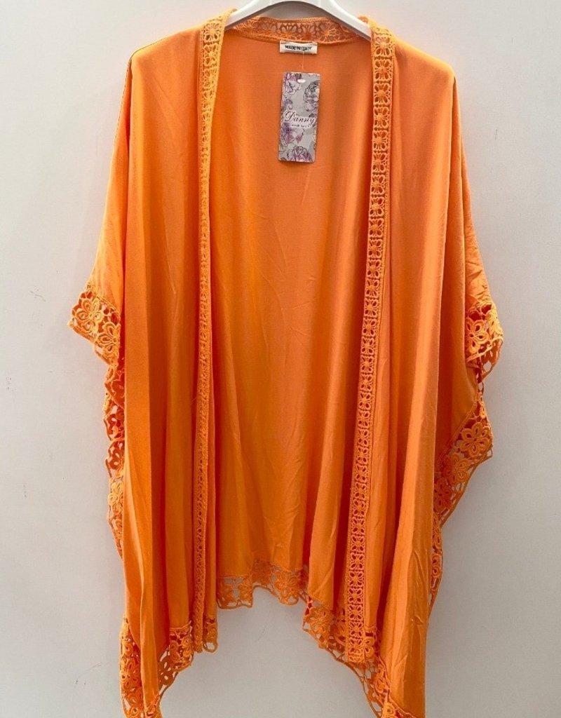 Gilet manche courte grande taille orange