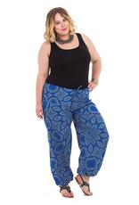 Allez Simplement Pantalon ample bleu et gris