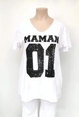 Tee shirt MAMAN 01 blanc