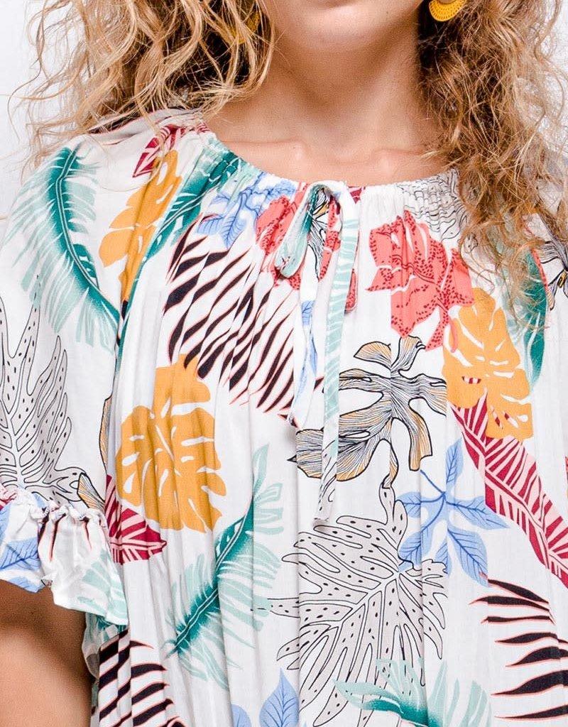 Robe courte tropicale