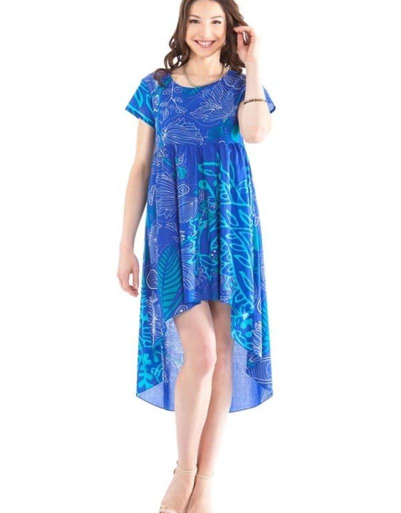 Robe bilongueur bleue