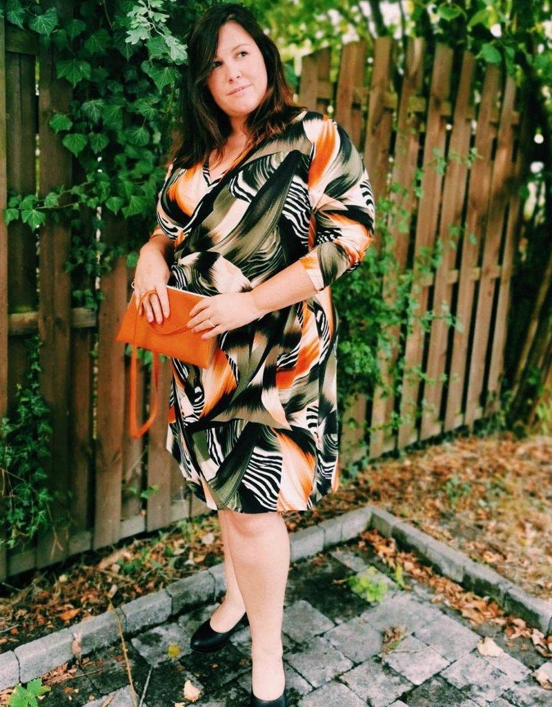 2W Robe portefeuille kaki orange