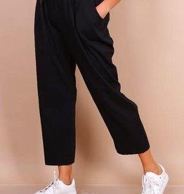 EMB Pantalon paperbag noir