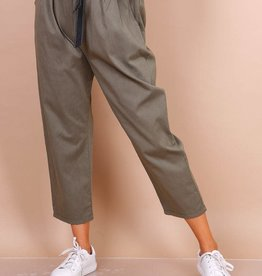 EMB Pantalon paperbag kaki