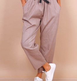 EMB Pantalon paperbag beige
