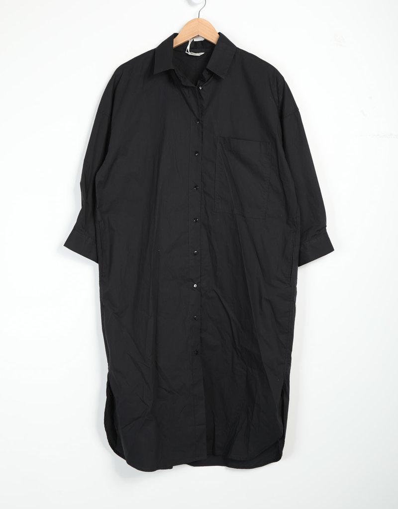 EMB Robe chemise noire