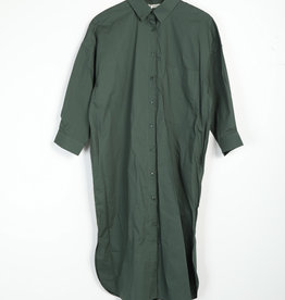EMB Robe chemise verte