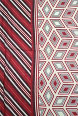 Echarpe  ligné rouge