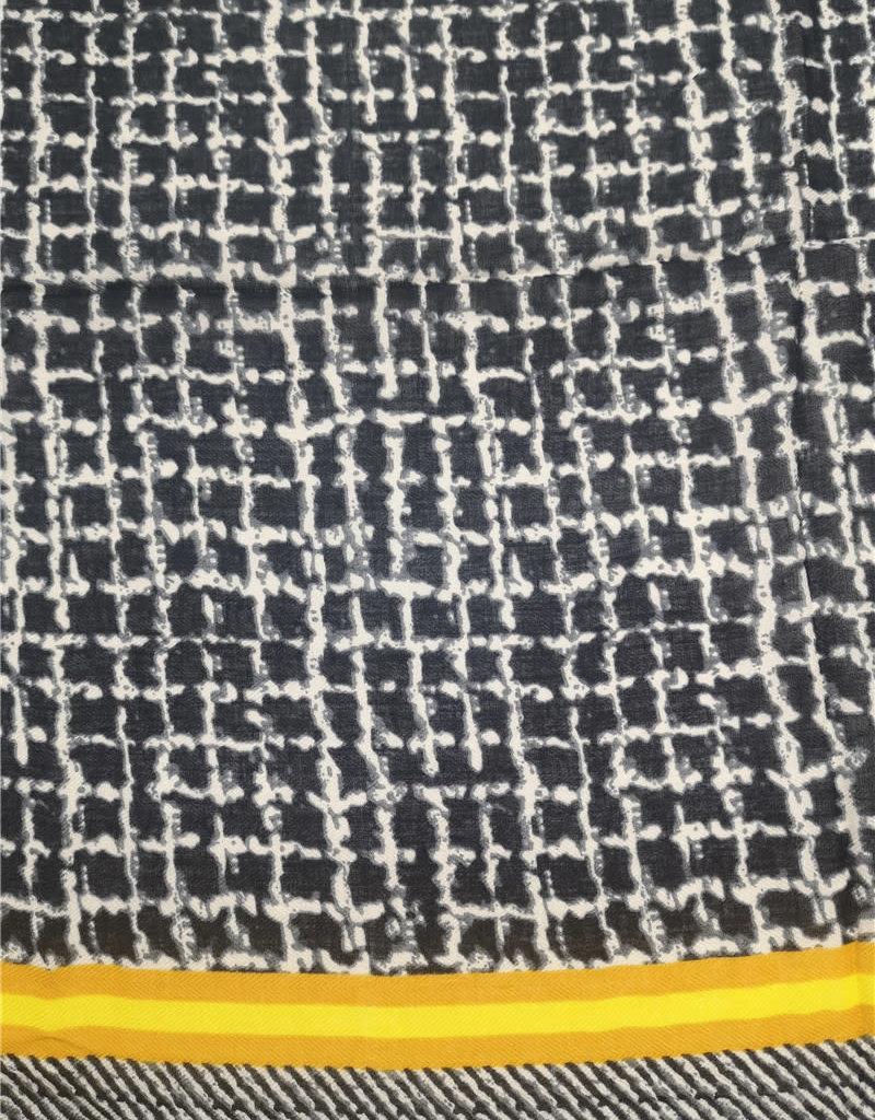 Foulard carreaux noir