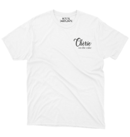 "Petite Insolente Tee shirt "" Cherie on the cake"""