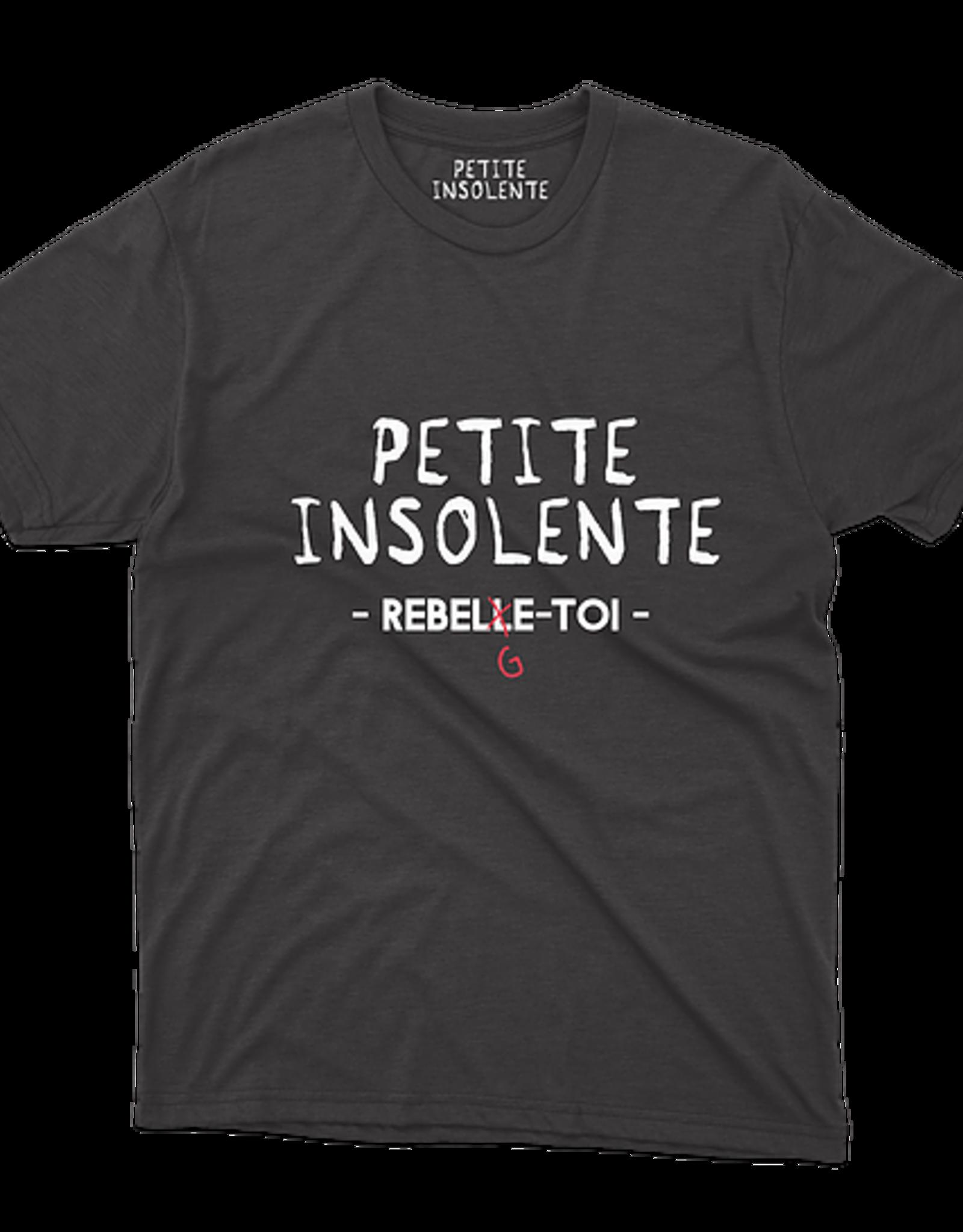 "Petite Insolente Tee shirt "" Petite insolente ReBelge toi"" Noir"