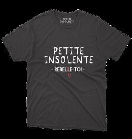 "Tee shirt "" Petite insolente ReBelge toi"" Noir"